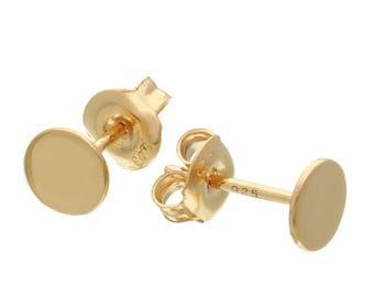 ON SALE Disc stud earrings