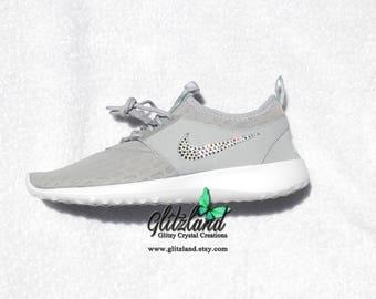 SALE!! Swarovski Nike Grey Juvenate Blinged with SWAROVSKI® Crystals