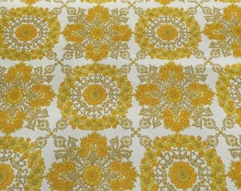 1 x opened rolls of 1960's bright yellow vintage wallpaper