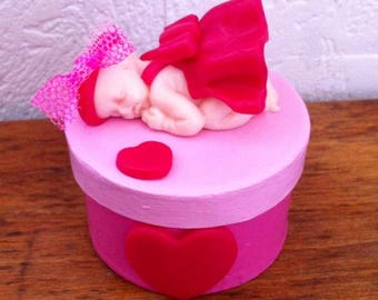 "Keepsake box baby ""It's a girl"""