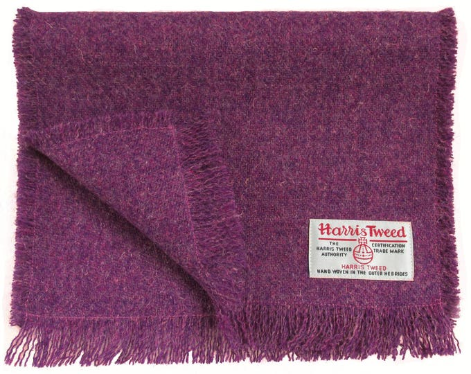 Harris Tweed Deep Heather Pure Wool Neck Scarf
