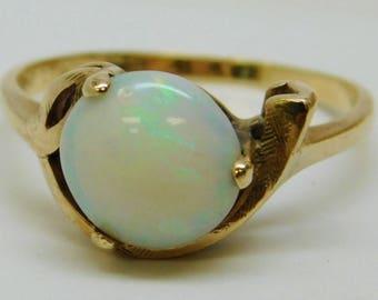 Vintage 10k Gold Opal Ring