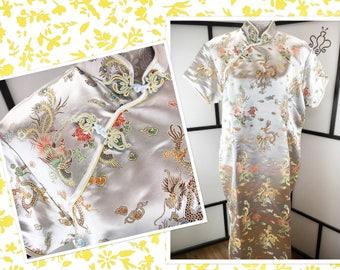 Cheongsam Maxi Dress, XL