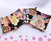 Japanese Fabric Florals Coasters, Sakura, ensemble de 4