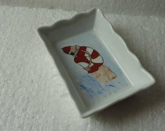 Service dessert porcelaine phares