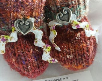 Slippers for a newborn baby gift box