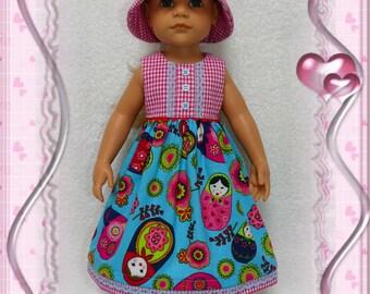 Dress & hat for Doll Hannah Gotz 50 cm.