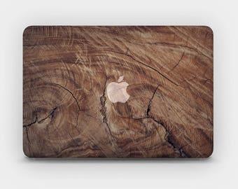 Transparent MacBook Skin MacBook Sticker MacBook Decal Laptop Skin  MacBook Air  MacBook Pro  – Wood Cut