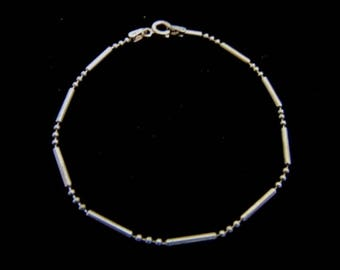 Womens Vintage .925 Sterling Silver Bracelet Made in Italy, 1.7g E3716