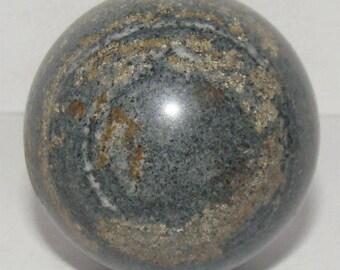 Natural mineral from Murmanskaya Region, Russia. Narsarsukite sphere / ball