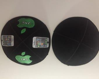 Handpainted Custom Iphone Kippah