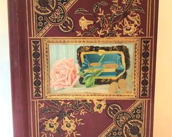 Unused Antique Scrapbook: Patented 1876