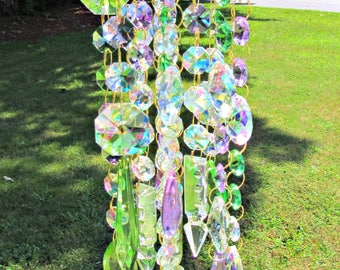 AB Crystal Wind Chime, Sun Catcher, Glass Wind Chime, Garden décor, Crystal Sun Catcher, Windchime, Crystal Windchime, MWC 145ABV