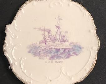 U.S.S. Maine Plate