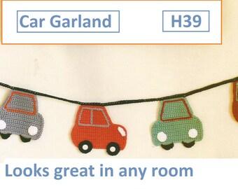 Instant Download - PDF-  Lovely Car Garland Crochet Pattern (H39)