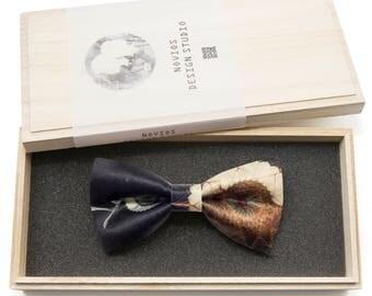 Galaxy Black Pattern Bowtie -Graduation Gift, Toddler Bowtie , Wedding Ties, Groomsmen bow tie, Pre Tied and Adjustable Novioshk, H0009