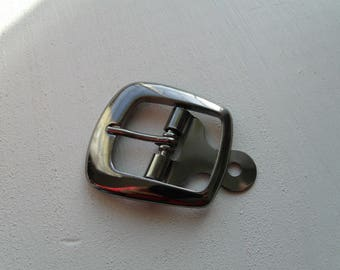 Belt buckle and/or strap 4 cm * 5.5 cm with treads in Gunmetal