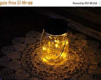 July Sales Event Mason Jar Solar Lid Light - Yellow - Angel Lights - Firefly Lights - solar mason jar, mason jar light, fairy light, mason j