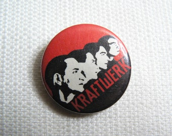 Vintage 80s Kraftwerk Pin / Button / Badge