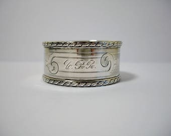 Silver Napkin Ring Engine Turned Antique