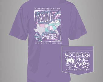 Sweet States - Adult Pocket T-Shirt - Southern Fried Cotton