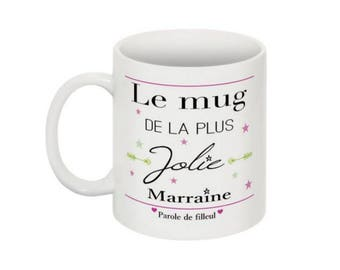 Mug marraine la plus jolie version filleul