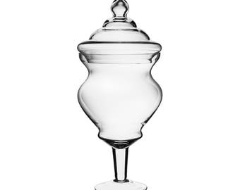 Glass Large Apothecary Jar Candy Buffet Jar with Curvy Shape #GAJ128