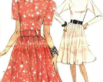 Vogue 7148 Sweet Dress with Flashy Full Skirt / ca. 1980's SZ6-10 UNCUT