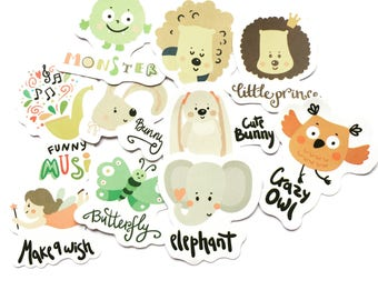 Kawaii sticker flakes