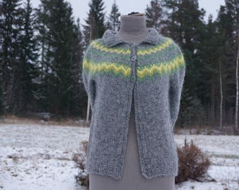 Icelandic plant dyed sweater. Handmade with love and care.