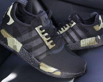 Camo Adidas NMD Runner Triple Black Custom Men