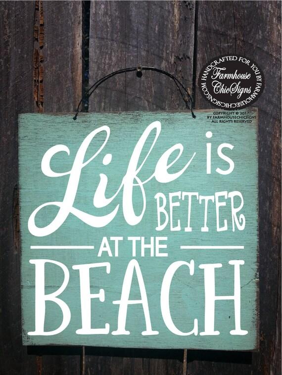 shabby chic beach decor, beach signs, beach art, beach decor, beach house signs, wood beach sign, hand painted beach signs, beach art