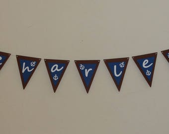 Pirate name flag Garland