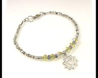 Yellow Chakra bracelet,  Power of Love, yellow bracelet, Solar Plexus Chakra bracelet,  chakra jewelry, crystal bracelet, Charm bracelets