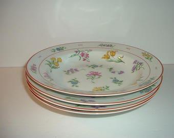 4 Vintage Georges Briard Floral Fantasy Soup Bowls