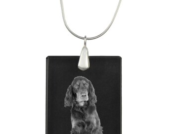 Gordon Setter,  Dog Crystal Pendant, SIlver Necklace 925, High Quality, Exceptional Gift, Collection!