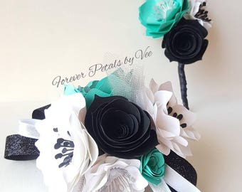 Corsage and Boutonniere Set Paper Flowers Customize Colors