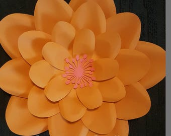 Paper Flower Template #9