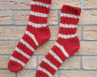 Hand knitted beautiful wool socks