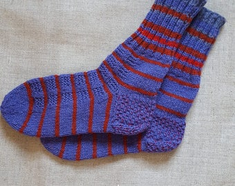New. Hand knitted wool socks.