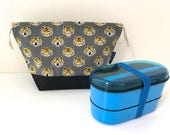 Tiger bento bag / snack bag / drawstring bag