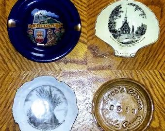 4 Collectable AshTrays Royal Winton Gibratar E.T Wilson Agars corner SALE