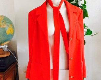 SALE- Vintage red blazer| vintage blazer| 80s blazer | gorgeous size M red blazer| golden buttons| great fit| with strap