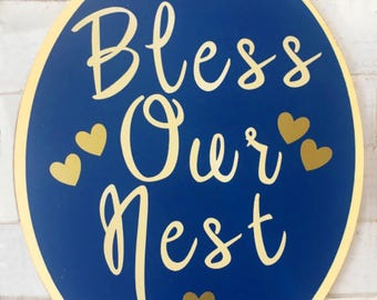 Bless Our Nest Wall Hanging Sign - Fall Signs - Harvest Signs