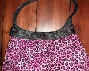 New Thirty-one Purse Skirt for Retired City Purse Pink & Black Cheetah Print 31 Gifts BEAUTIFUL Hobo Style