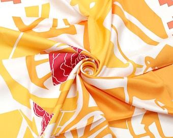 "HERMES SCARF Silk ""Puzzle"" by Joachim Metz Vintage 90cm Carre 100% Auth"