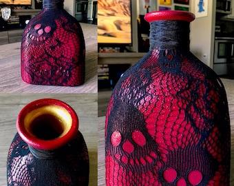 Skull Edition *Custom Made Coin Jar* Large Patron Bottle (1.75L)
