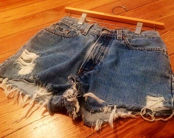Levis Denim Cut Off Shorts Womens Levis Shorts Vintage Levis 512 Shorts Womens 24 Levis Shorts Denim Cut Off Shorts Womens Shorts High Rise