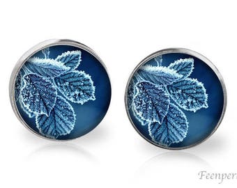 Stud Earrings Frosted 8