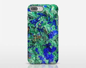 Mineral Photo Case, Malachite Azurite Phone Case, Cell Phone Covers, iPhone 6s Plus Case, Galaxy S8 Case, Cool Phone Cases